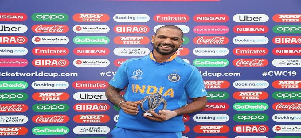 Shikhar Dhawan is working hard to regain full fitness as the ICC Cricket World Cup 2019 approaches the business end. (Image credit: ICC Twitter)