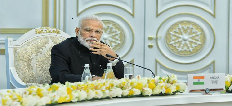 Prime Minister Narendra Modi at SCO Summit in Bishkek (Photo tweeted by @MEAIndia)