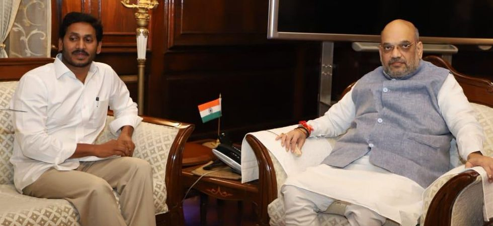 Andhra Pradesh Chief Minister YS Jaganmohan Reddy with Union Home Minister Amit Shah.