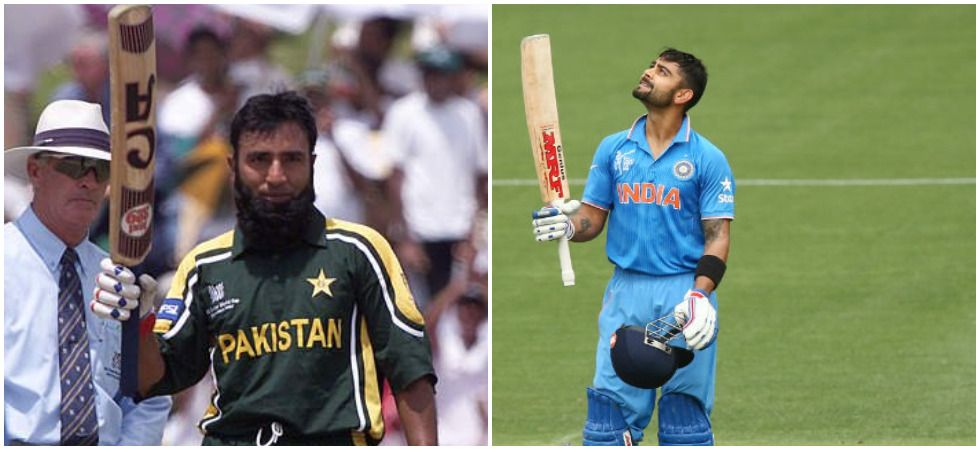 Saeed Anwar and Virat Kohli are the only two centurions in the history of India vs Pakistan World Cup clashes. (Image credit: News Nation)