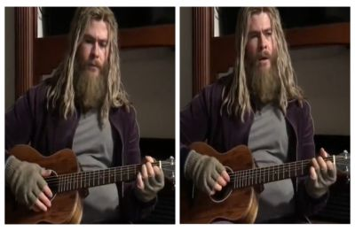 Chris Hemsworth releases Endgame DELETED clip of him singing Johnny Cash's 'Hurt' as Fat Thor, WATCH
