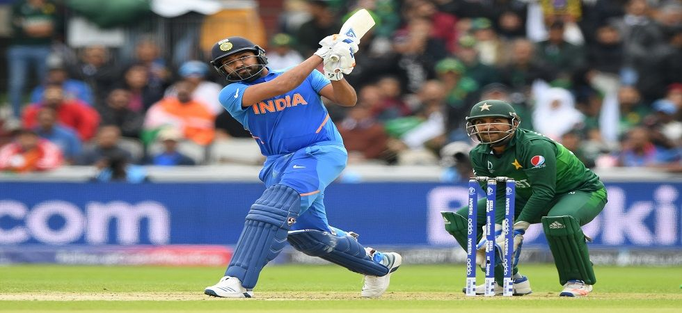 Rohit Sharma blasted his 24th century and his third overall in the ICC Cricket World Cup as India dominated against Pakistan in Manchester. (Image credit: Getty Images)