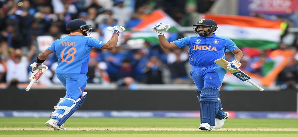 Rohit Sharma blasted his 24th ton and helped India register their highest individual score in World Cups against Pakistan. (Image credit: Getty Images)