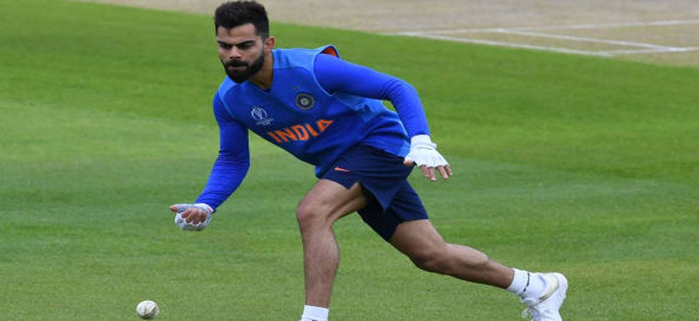India skipper Virat Kohli during a practice session ahead of India vs Pakistan game. (Photo: Twitter/@imVkohli)