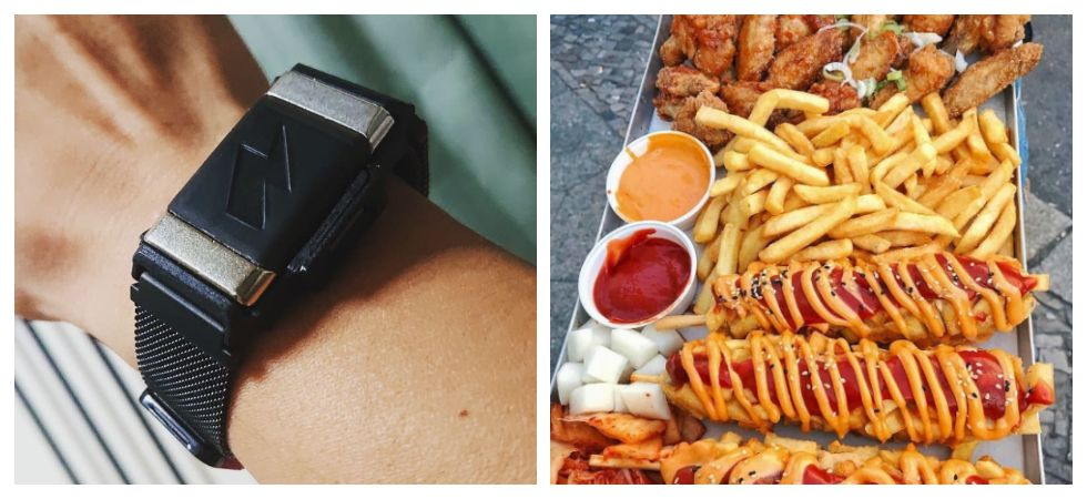 New bracelet shocks you if you eat too much (Photo: Instagram)