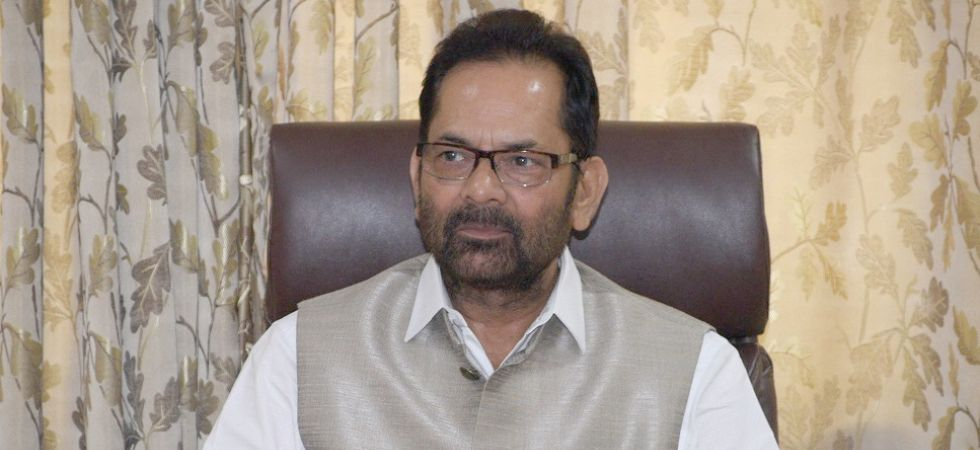 Union Minister Mukhtar Abbas Naqvi (Photo Credit: IANS)