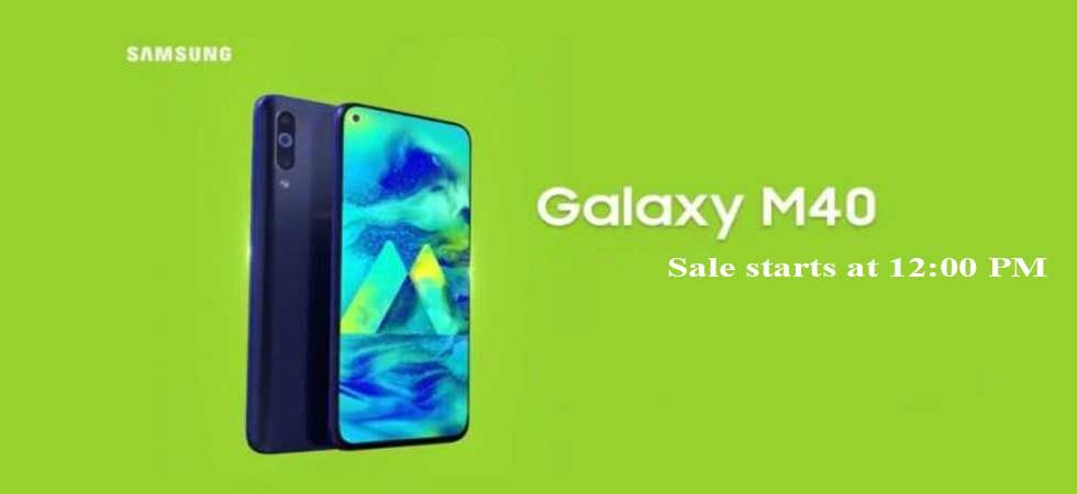 Samsung Galaxy M40 will cost Rs 19,990 for the lone 6GB+128HB storage version.