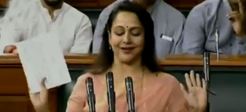 Hema Malini has retained Uttar Pradesh's Mathura Lok Sabha seat for a second consecutive term. (Image Credit: ANI)