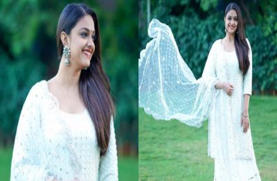 Keerthy Suresh shares her sunkissed photo in a bathrobe, fans ask her to gain weight