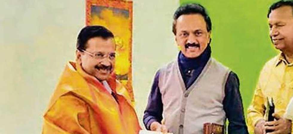 Aam Aadmi Party president Arvind Kejriwal and DMK president MK Stalin (File Photo)