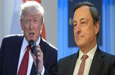 European Central Bank chief Mario Draghi brushes off Donald Trump charge of currency manipulation