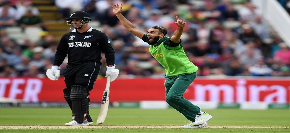 Imran Tahir's final over against New Zealand saw two catches dropped and an appeal for a catch not taken as South Africa lost the ICC Cricket World Cup encounter by four wickets. (Image credit: Getty Images)