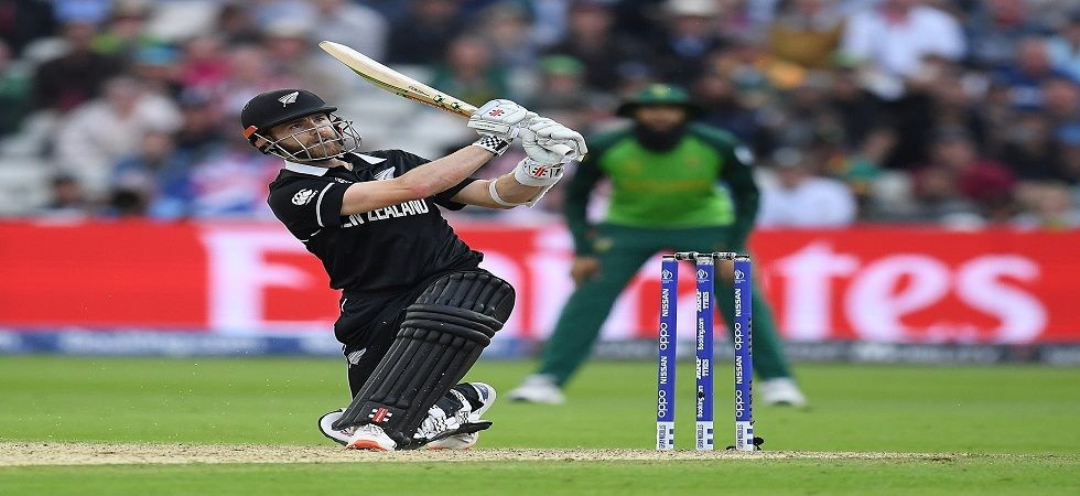 New Zealand skipper Kane Williamson slammed his maiden century in the World Cup as South Africa's semi-final hopes hung by a thread. (Image credit: Getty Images)