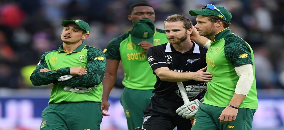 New Zealand were boosted by a century from Kane Williamson as South Africa's hopes of reaching the semi-final were dashed with a four-wicket loss in Edgbaston. (Image credit: Getty Images)
