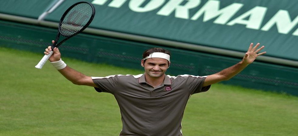 Roger Federer secured a  7-6 (7/5), 4-6, 7-5 victory over Frenchman Jo-Wilfried Tsonga at the ATP event in Halle. (Image credit: Twitter)