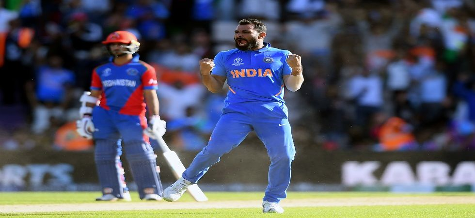 Mohammed Shami became the second Indian after Chetan Sharma to take a hat-trick in World Cups as India defeated Afghanistan. (Image credit: Getty Images)