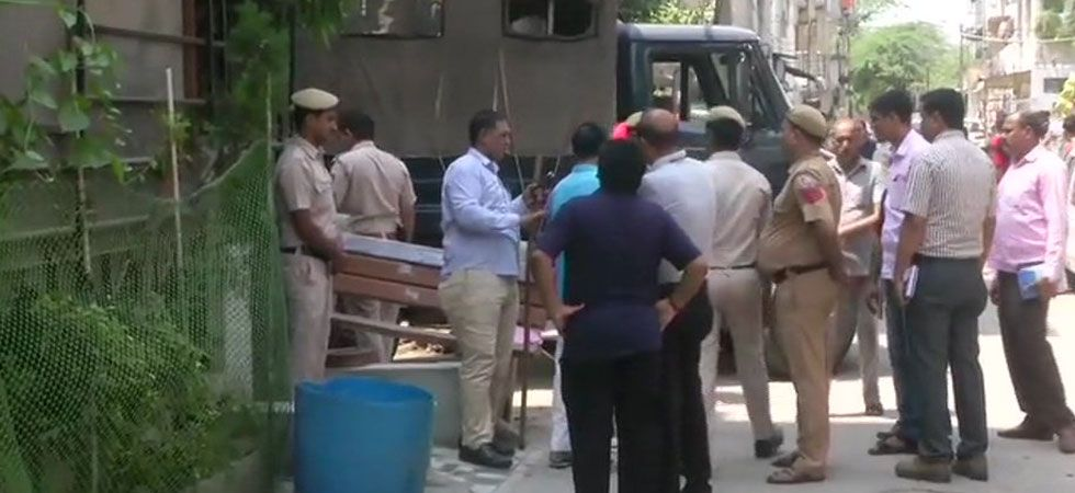 Police officials at the spot. (ANI Photo)