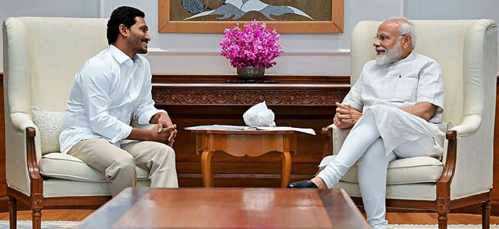 Prime Minister Narendra Modi with YSR Congress Party President and Andhra Pradesh Chief Minister YS Jaganmohan Reddy. (File Photo: PTI)