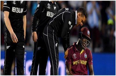 New Zealand survive epic Carlos Brathwaite ton to beat West Indies by five runs in World Cup thriller