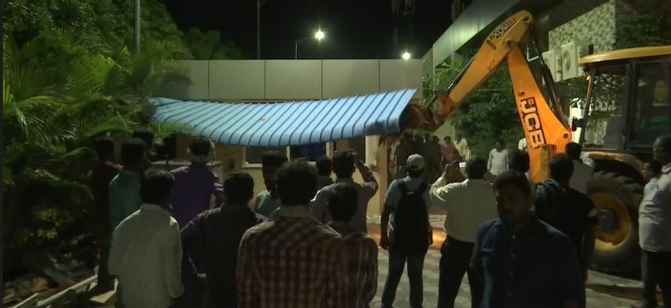 Praja Vedika demolition (Photo Source: Twitter)