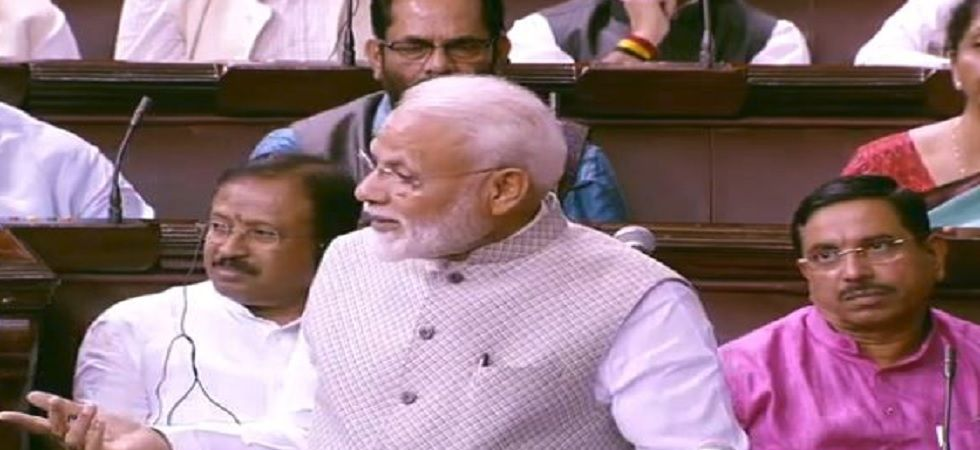 PM Modi addresses Rajya Sabha, thanks voters for decisive mandate