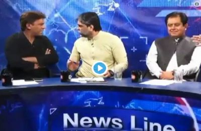 WATCH: Pakistan politician roughs up journalist during live television debate