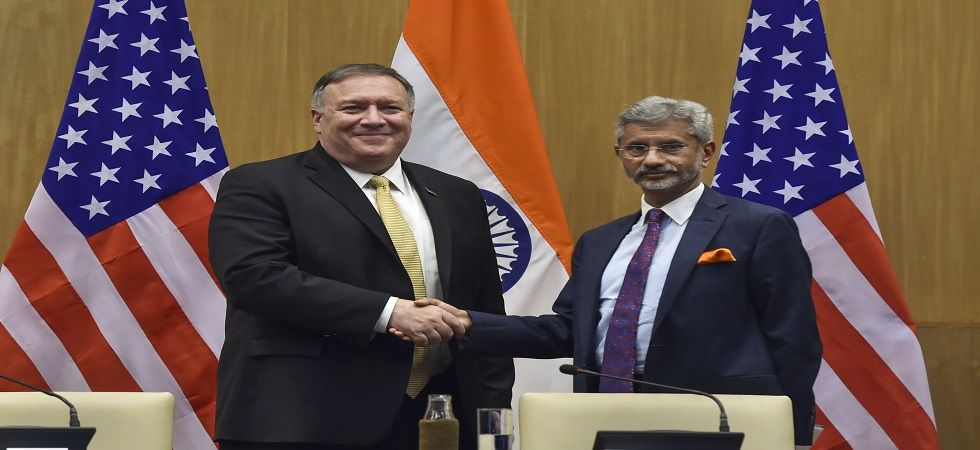 US Secretary of State Mike Pompeo and External Affairs Minister S Jaishankar on Wednesday. (PTI)