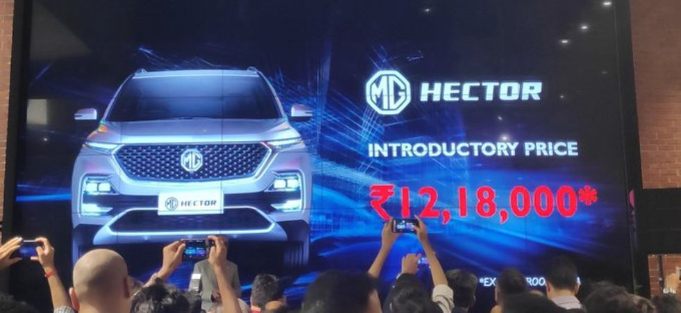 MG Hector SUV LAUNCHED (Photo Credit: Twitter)