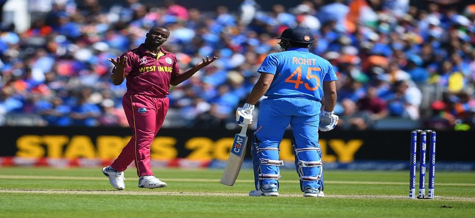 Rohit Sharma gets out on 18 against West Indies at Old Trafford (Image Credit: Getty)