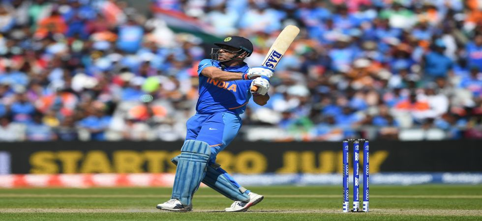 MS Dhoni blasted his 72nd fifty and helped India register a huge 125-run win against West Indies in the ICC Cricket World Cup 2019. (Image credit: Getty Images)
