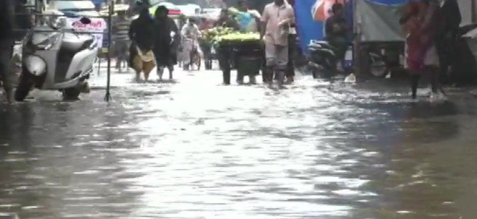 Heavy monsoon rains continued to lash Mumbai and its neighbouring areas for the second consecutive day on Saturday. (Image Credit: ANI)