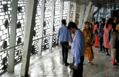 VIDEO | Rains create puddles in Gujarat's Statue of Unity viewers gallery