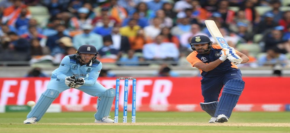 Rohit Sharma blasted his third century in the ICC Cricket World Cup 2019 as India looked to achieve a chase of 338 against England in Birmingham. (Image credit: Getty Images)