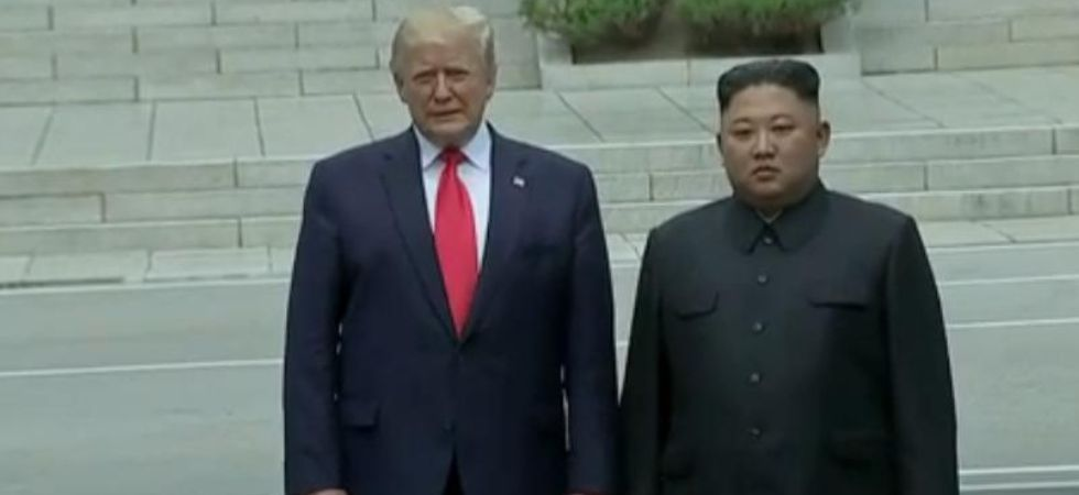 Donald Trump becomes first sitting US president to step foot on North Korean soil, meets Kim Jong Un at Demilitarized Zone