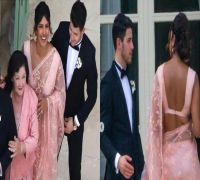 Priyanka Chopra ups the fashion game in pink saree at Sophie Turner and Joe Jonas' wedding