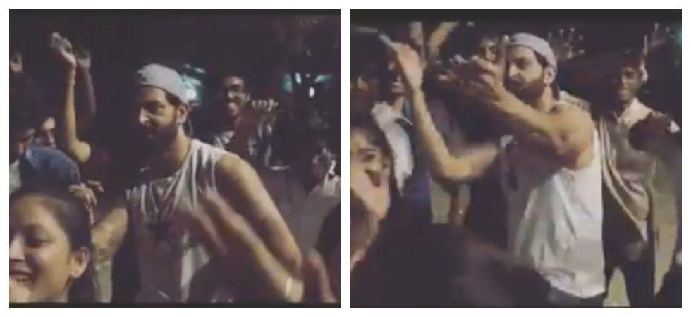 Hrithik Roshan dances to Lagabelu jab lipistic' with fans (Photo: Instagram)