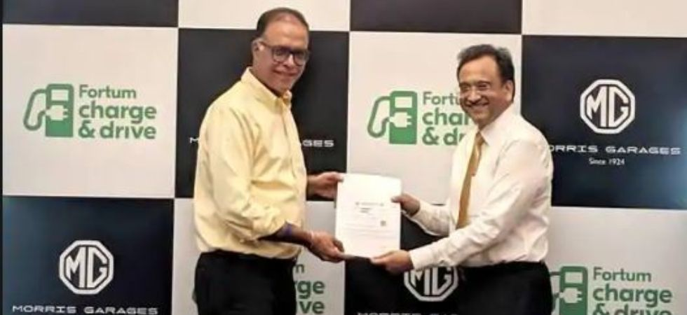 MG Motor India partners with Fortum (Photo Credit: Twitter)