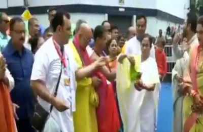 Mamata Banerjee calls for religious harmony on Jagannath Rath Yatra, Nusrat joins celebrations with husband
