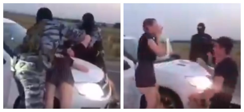 Man proposes girlfriend at gunpoint (Photo: Twitter)