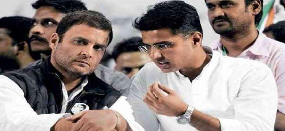 Rahul Gandhi with Deputy Chief Minister of Rajasthan Sachin Pilot (file)