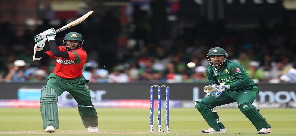 Shakib Al Hasan blasted his seventh fifty-plus score and went past 600 runs in the ICC Cricket World Cup 2019 clash against Pakistan at Lord's. (Image credit: Getty Images)
