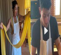 In Video: Priyanka Chopra and Nick Jonas dishing out Italian cuisine like a pro on date night