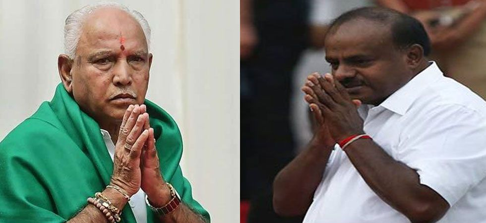 BS Yeddyurappa and HD Kumaraswamy. (Image Credit: ANI)