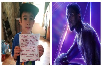 Young 'Black Panther' fan writes letter in Wakandan to Chadwick Boseman