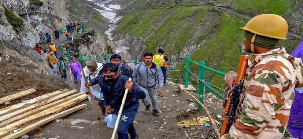 3,000 pilgrims, who were scheduled to leave for the Valley on Monday, were stranded at the Bhagwati Nagar base camp in Jammu