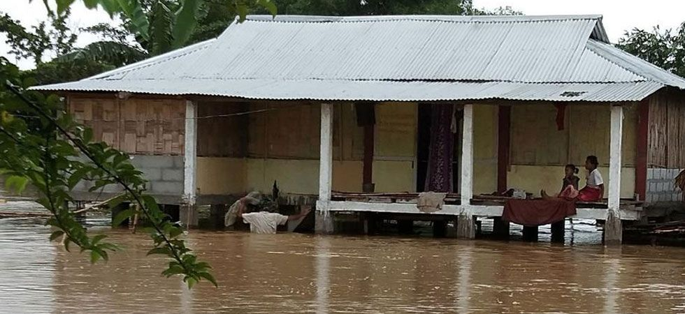 The flood situation in Assam has deteriorated in the last 48 hours. (ANI Photo)