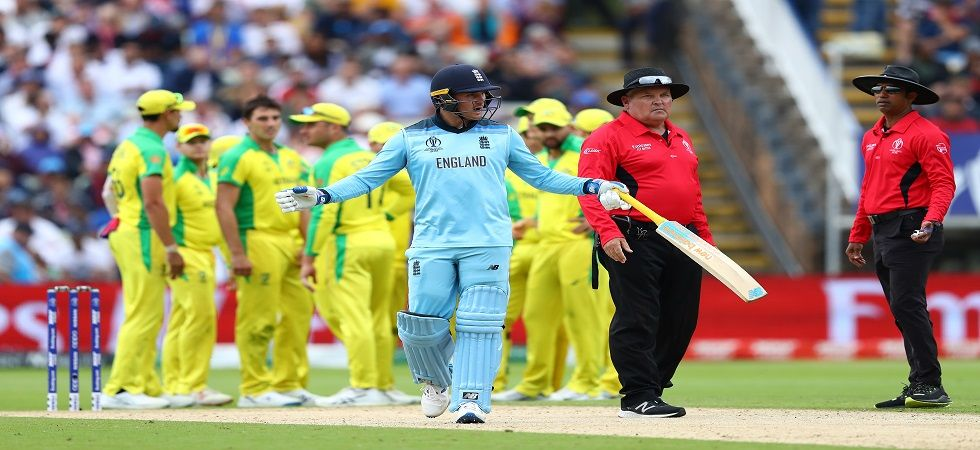 Jason Roy was given out in controversial circumstances for 85 as England cruised against Australia in the ICC Cricket World Cup semi-final in Edgbaston. (Image credit: Getty Images)