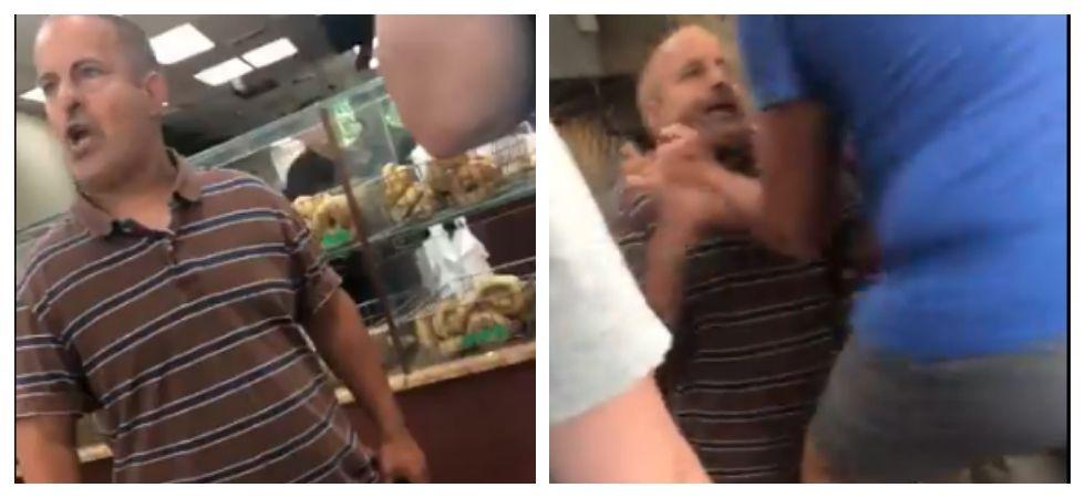 Man rants and yells at bagel shop (Photo: Twitter)