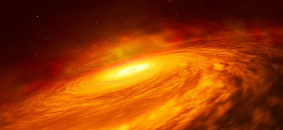 Disc around supermassive black hole (Photo Credit: spacetelescope.org)