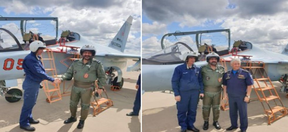 After sortie, he met the pilot and the Deputy Commander-in-Chief of Aerospace Forces of Russian Federation